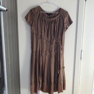 LOUIS VUITTON  SILK VELVET PLEATED DRESS 36/XS